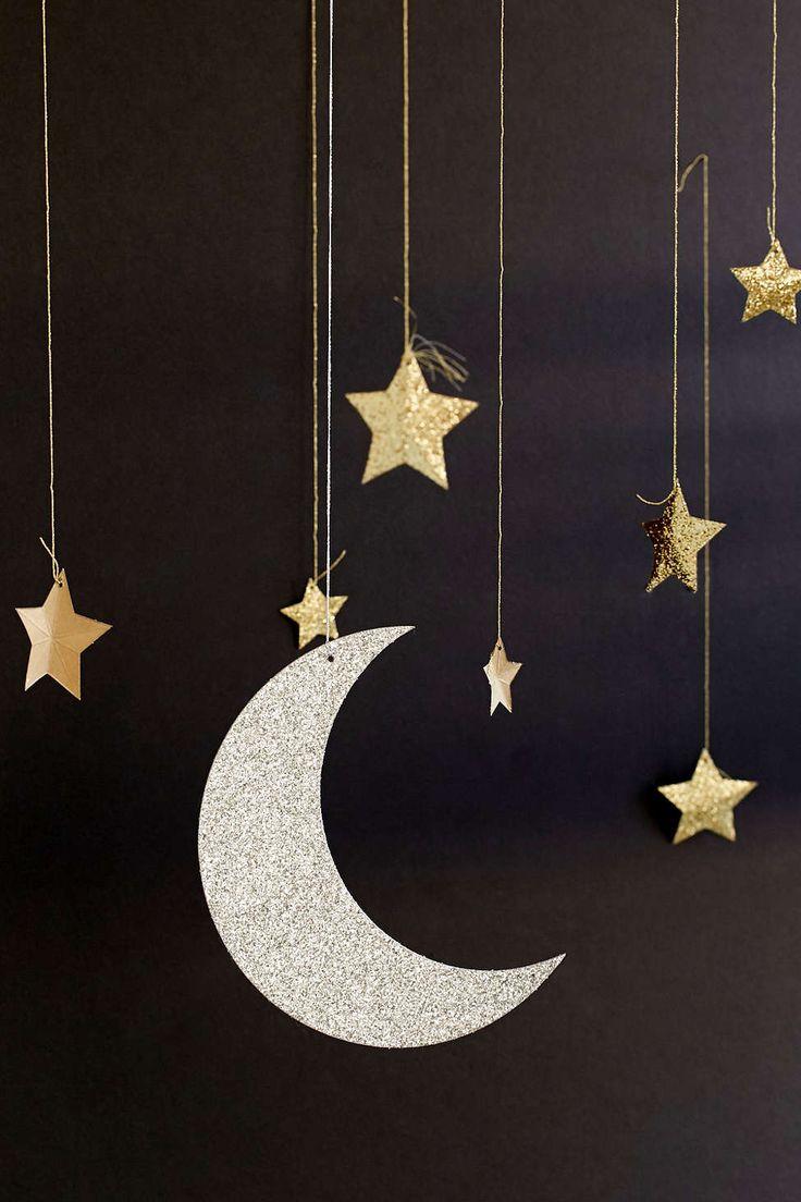 Moon and stars mobile. Handmade.