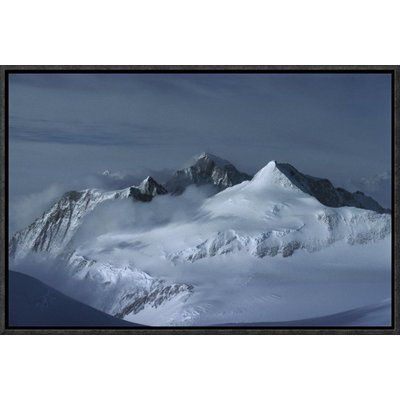 """East Urban Home 'View at Midnight from Vinson Massif' Framed Photographic Print on Canvas Size: 12"""" H x 18"""" W x 1.5"""" D"""