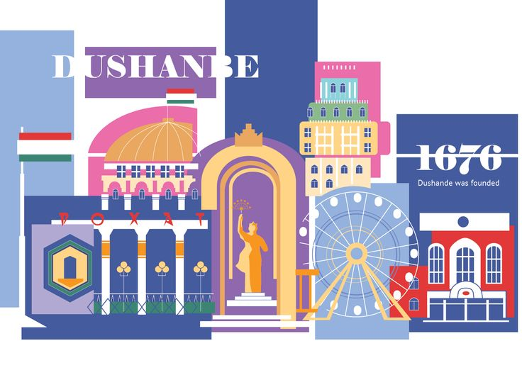 Ознакомьтесь с моим проектом @Behance: «Poster of asian city Dushanbe» https://www.behance.net/gallery/51698625/Poster-of-asian-city-Dushanbe