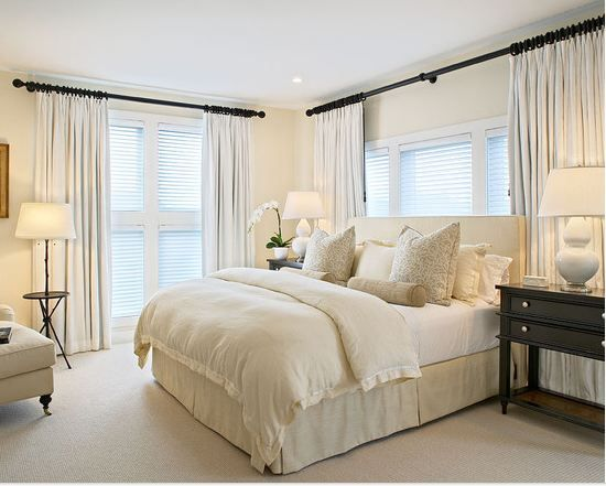 Neutral bedroom colors. So clean and fresh