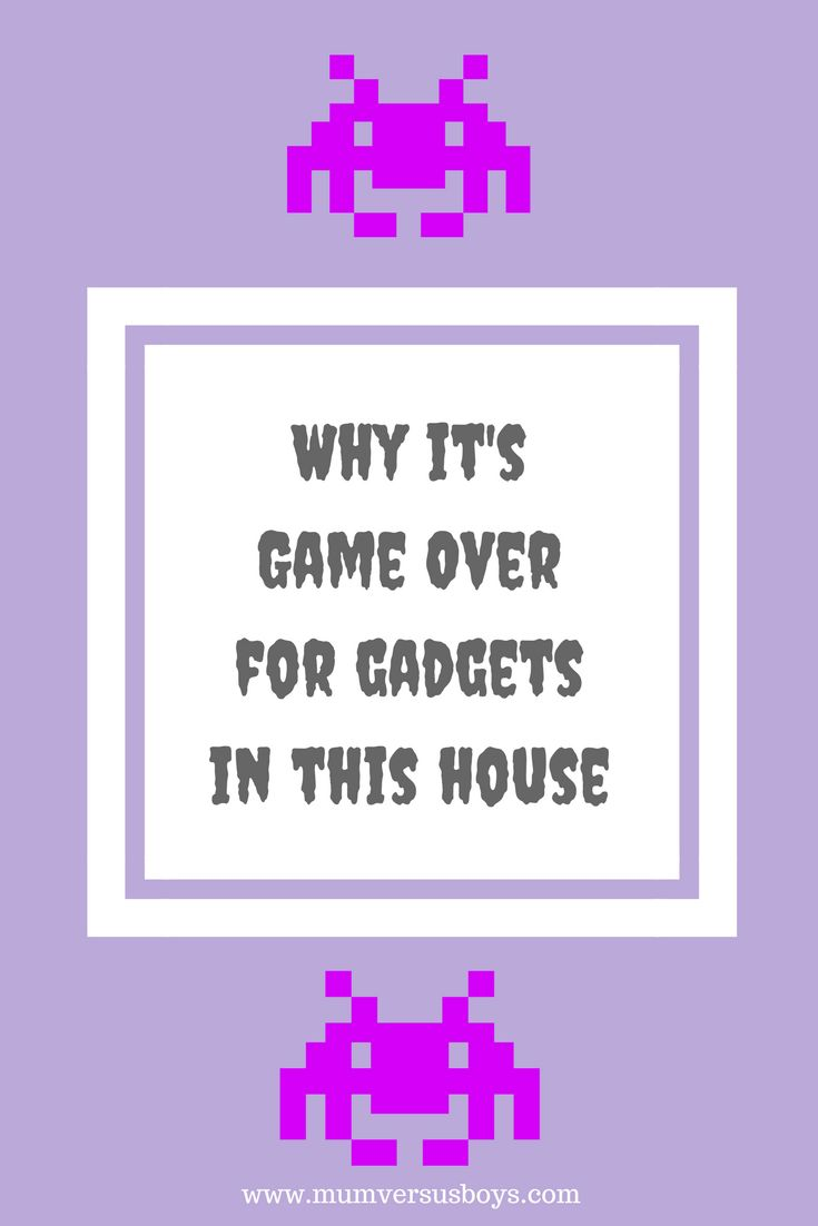 Here I chart how me and technology have interacted over the years and the influence I see gadgets having over my own boys. What are your house rules about gadgets - visit http://mumversusboys.com/why-its-game-over-for-gadgets-in-this-house to find out more...