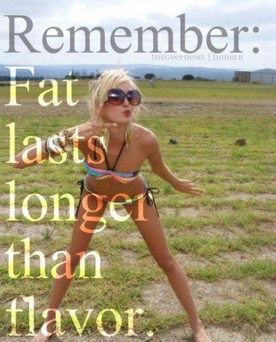 Fat Lasts Longer Than Flavor