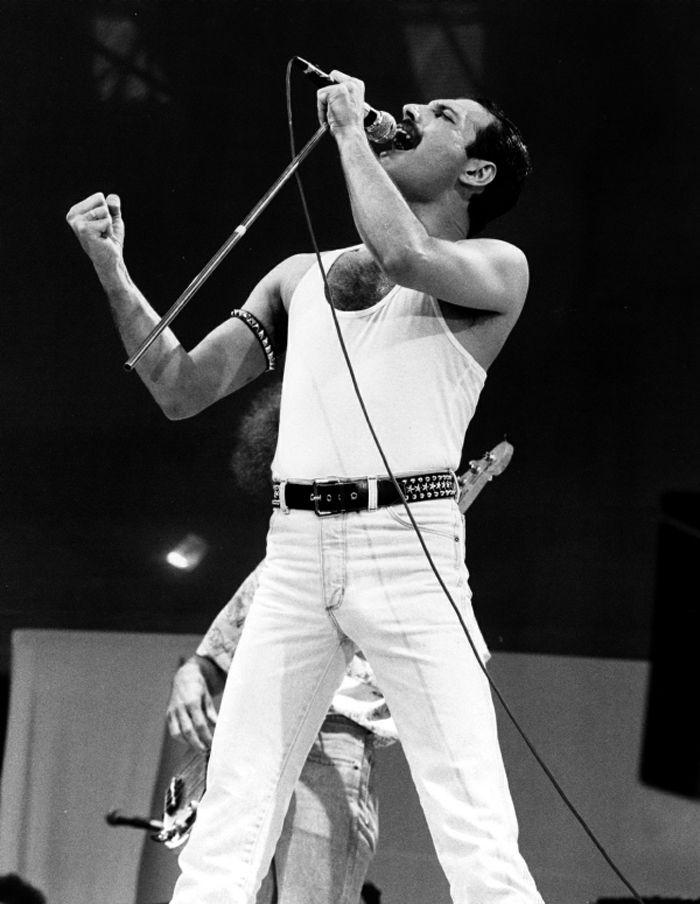 Freddie Mercury at Live Aid | Queen freddie mercury ...