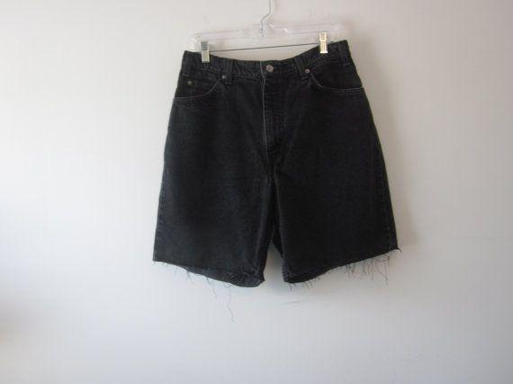 Black Grunge Denim Levi 550 Shorts Hipster Mens Cut Off Jean ...