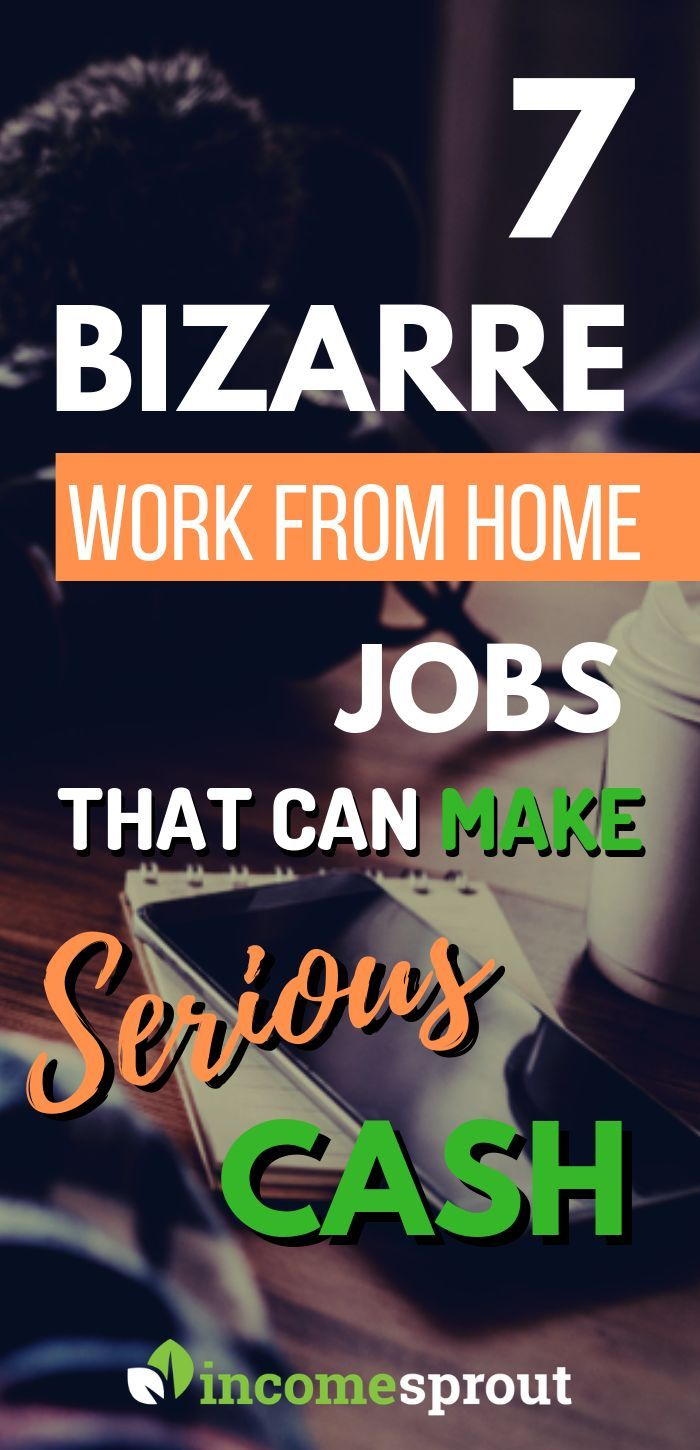 7 Bizarre & Easy Work From Home Jobs That Make Serious Cash