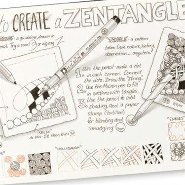 How to Create a Zentangle   Just like it   Art handouts, Zentangle ...