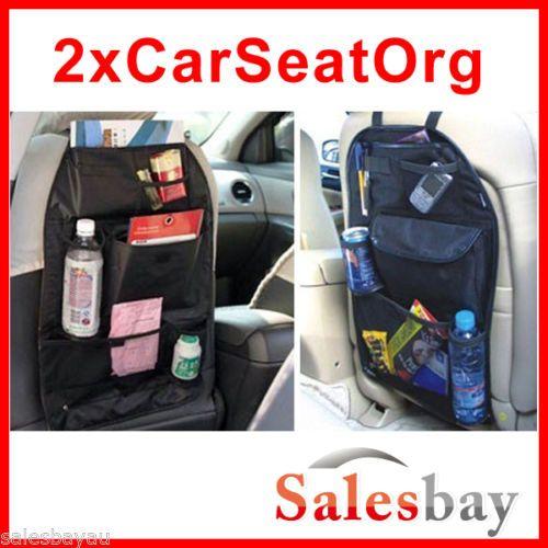 Two x CAR BACK SEAT ORGANISERS - Ebay $19.99 free postage