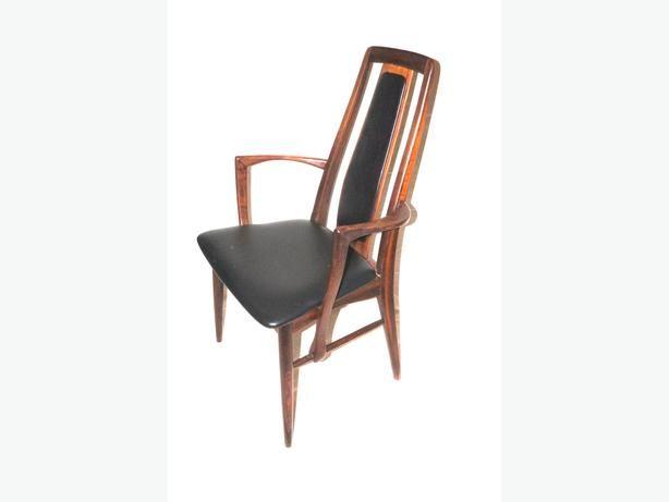 Beautiful set of 4 Mid Century Rosewood EVA Chairs Designed by Niels Koefoed