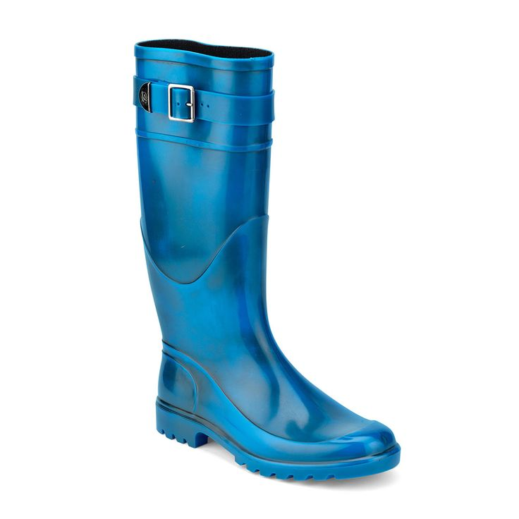 Classic Wellington boots in PVC with high band and antique brushed finish