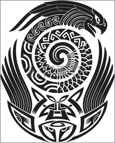 Tribal tattoo pattern Fit for a shoulder Vector illustration Illustration - 123rf