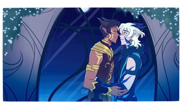 Voltron X The Dragon Prince With Lance As A Sun Elf And Keith As A