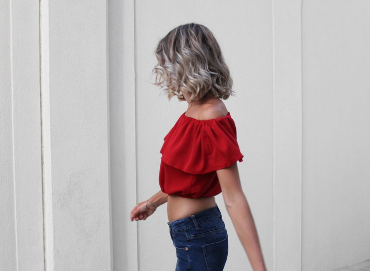 Super easy off the shoulder crop top - step by step Photo Tutorial