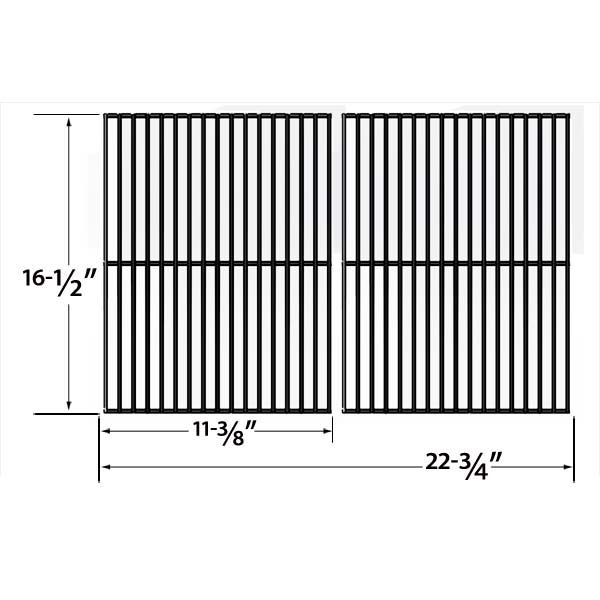 2 PACK PORCELAIN STEEL REPLACEMENT COOKING GRID FOR HAMILTON BEACH 84131, 84131C, KENMORE 141.155400 AND ELLIPSE 2000LP GAS GRILL MODELS Fits Compatible Hamilton Beach Models : 84131, 84131C Read More @http://www.grillpartszone.com/shopexd.asp?id=34764&sid=37540
