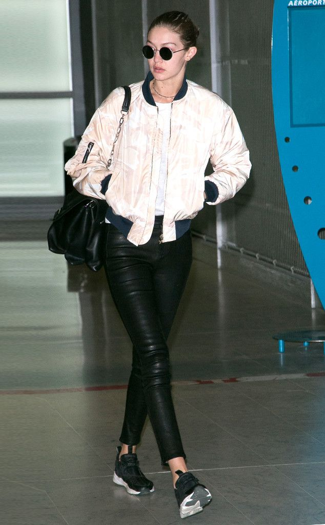 Gigi Hadid from The Big Picture: Today's Hot Pics  Angel in flight! The model makes her way through the Paris airport to be apart of the Victoria's Secret Fashion Show.