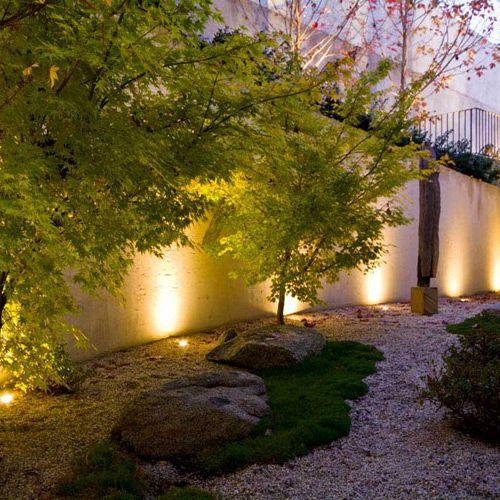 Romantic Garden Designs: Simple Garden Design With Accent Garden Lights. Bit Of A