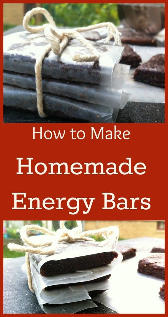 How to Make Homemade Energy Bars | No more expensive and questionable energy bars from the store!