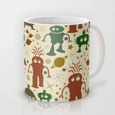 Robot Invasion! Mug by Susan Weller - 2 sizes!