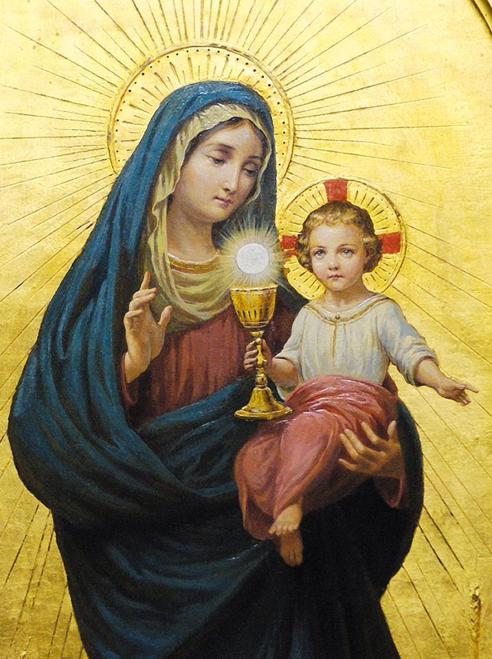 Blessed Mother Mary And Jesus 1230 best Eucharistic ...