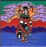 "$26.99 8"" x 8"" Kachina Dancer Southwestern Art Ceramic Tile use as a trivet or coaster or hang on wall  #Kachina #NativeAmerican #CowgirlOasis"