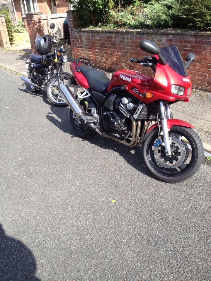 My new bike next to my old one
