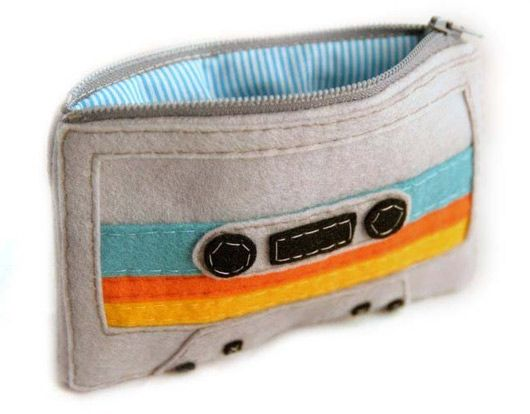 Mixed Tape iPod, iPad, and change purses.
