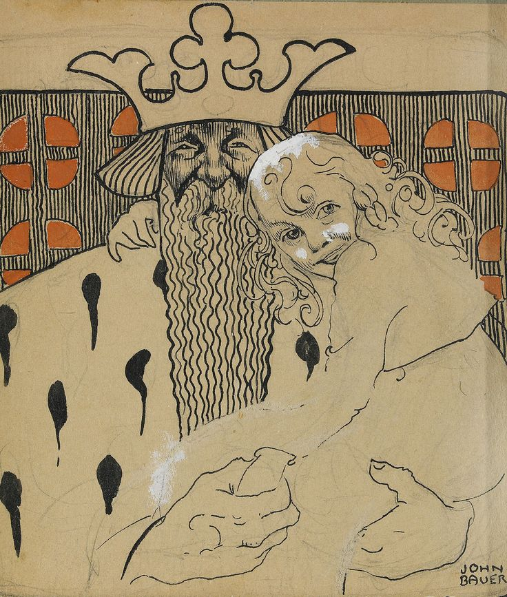 John Bauer, Linda Gull och den gamle, 1905 http://auktionsverket.com/auction/fine-arts/2010-06-03/2081-john-bauer-1882-1918-linda-gull-och-den-gamle-sign/