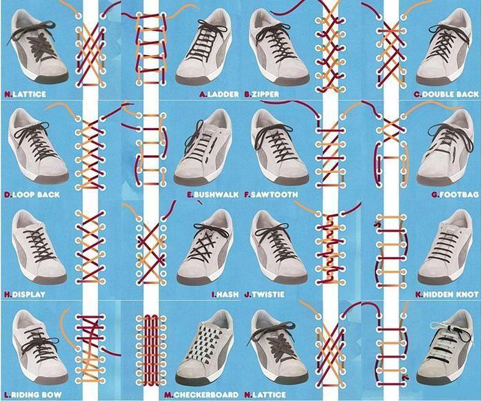 Плетение шнурков в кеды
