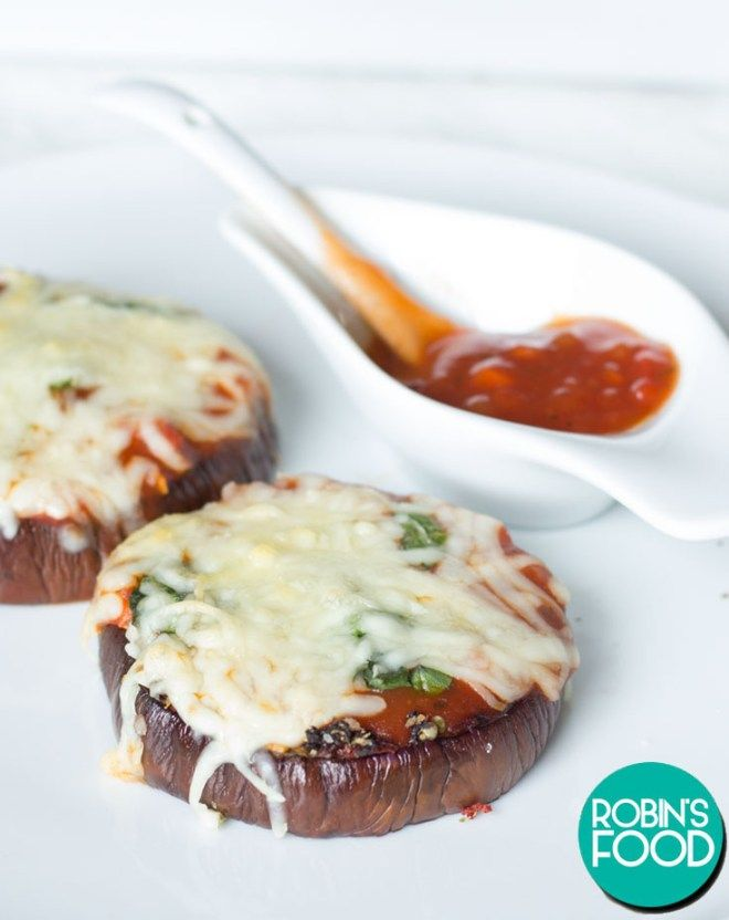 Low-Carb Eggplant Pizzas – Robin's Food