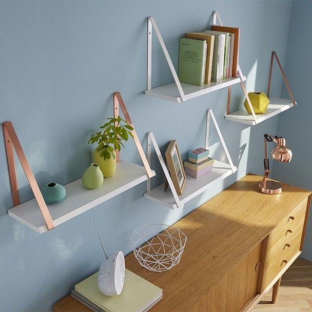 oltre 20 migliori idee su mensole sospese su pinterest. Black Bedroom Furniture Sets. Home Design Ideas