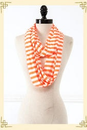 Striped Infinity Scarf in Orange: Basketball Games, Orange, Fashion, Infinity Scarfs, Francesca S, Fall Hobbies, Accessories, Senior Styles