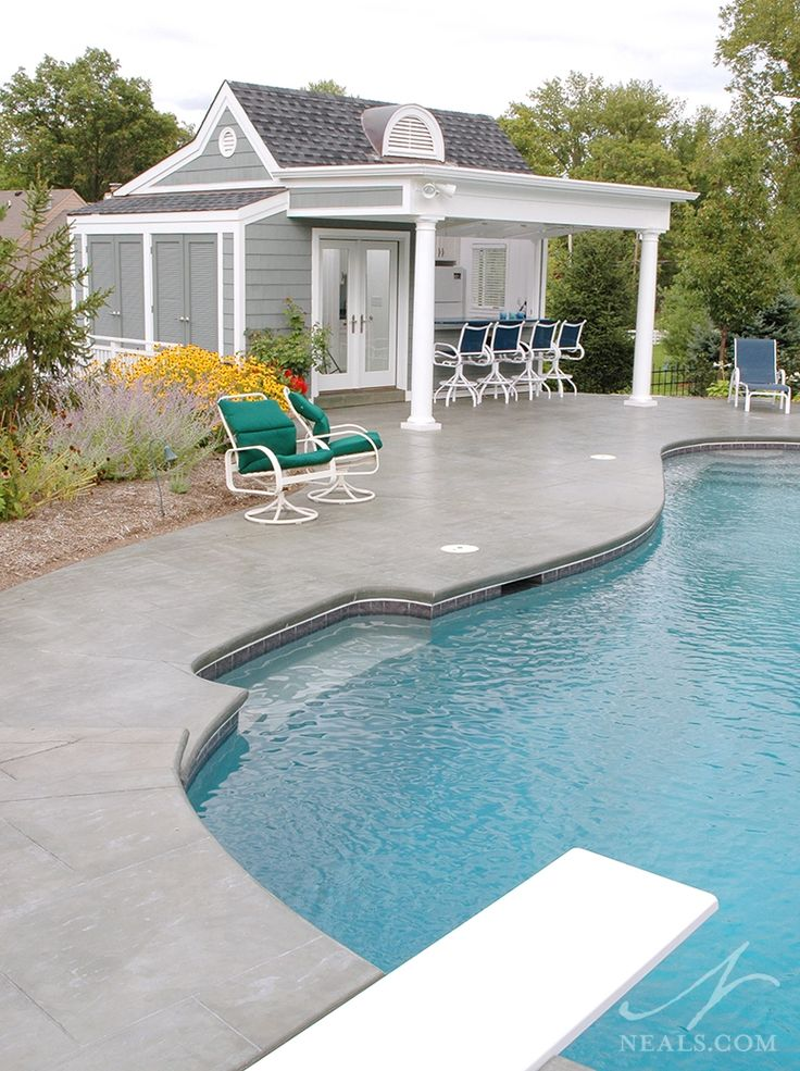 89 best images about swimming pools on pinterest pool for Pool shed with bar plans