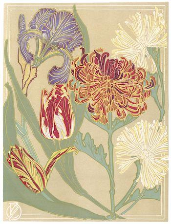 Flowers Art Nouveau Kit
