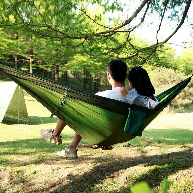 2 People Multi-color Garden Swing Hammock Hanging Bed Portable Outdoor Travel Camping Beach Swing