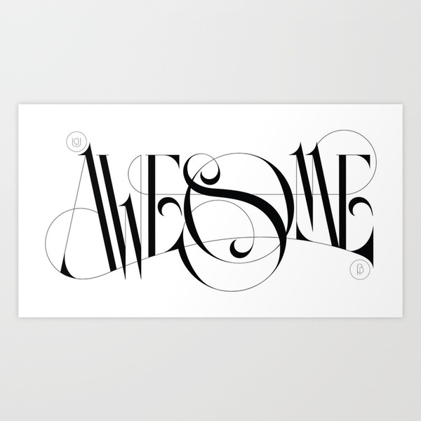 U R Awesome by Boris PelcerInspiration, Awesome, Boris Pelcer, Art Prints, Graphics Design, Fonts, Types, Typography, Letters