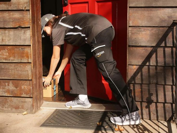 Amazon Key lets Amazon couriers place goods inside Prime customers' homes securely, using Amazon's new Cloud Cam security camera, a smart door lock and the Key app.                                               Image: Sarah Tew/CNET                                           ...