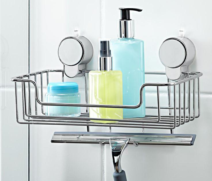 Koupelnová polička s přísavkami