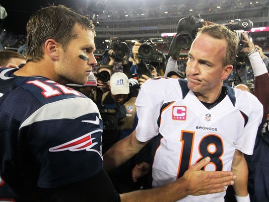 Two of the greatest QB's to ever play the game, thanks for the intense years of rivalry guys!