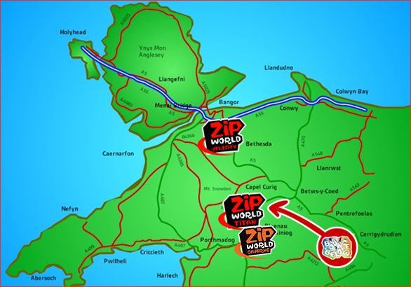 Map Locations - Walter wants to do this when we\'re in Northern Wales ...