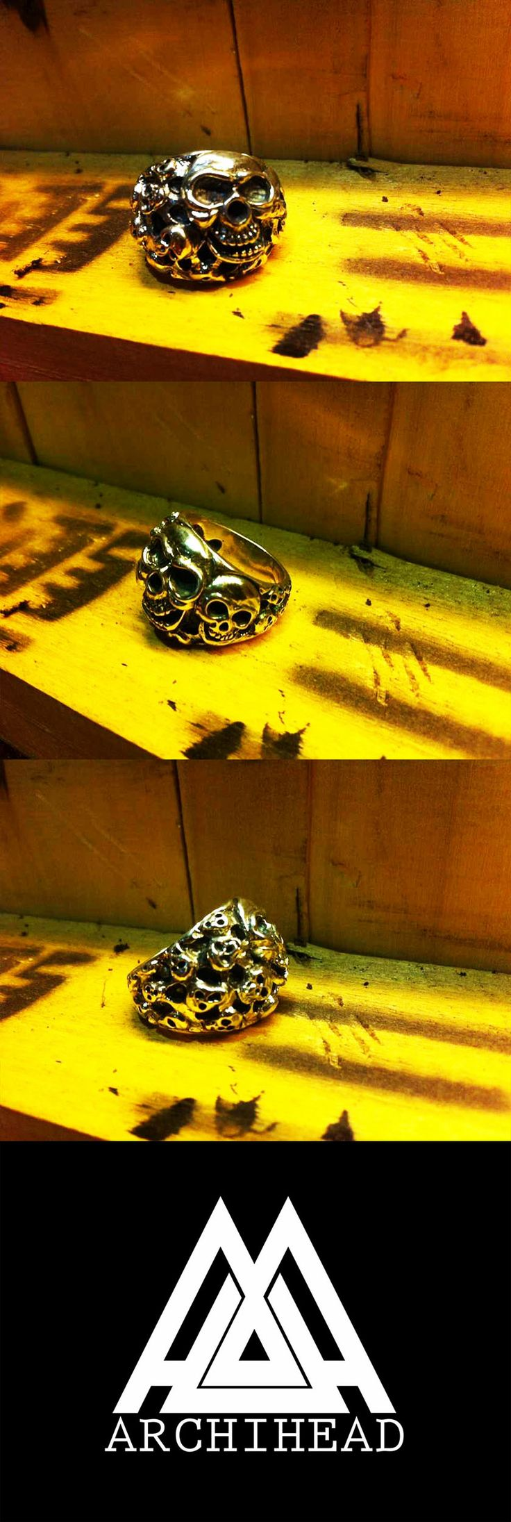 ARCHIHEAD Rings (7 skull ) Archiheadproject@gmail.com