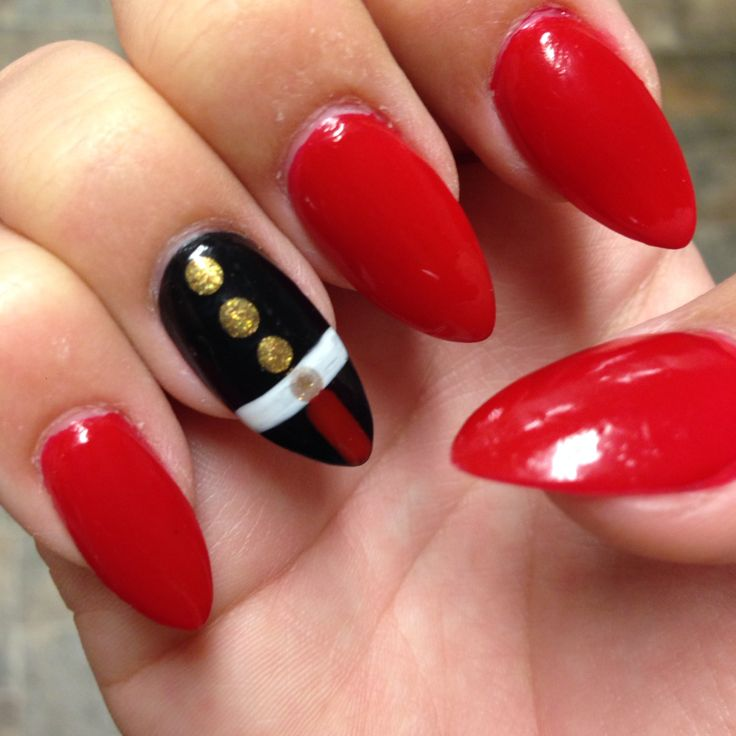 Marine Corps Ball Nails #nailart #nails #almond #usmc #marines