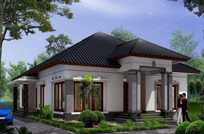 Gambar desain rumah tampak dari sudut samping 1 lantai