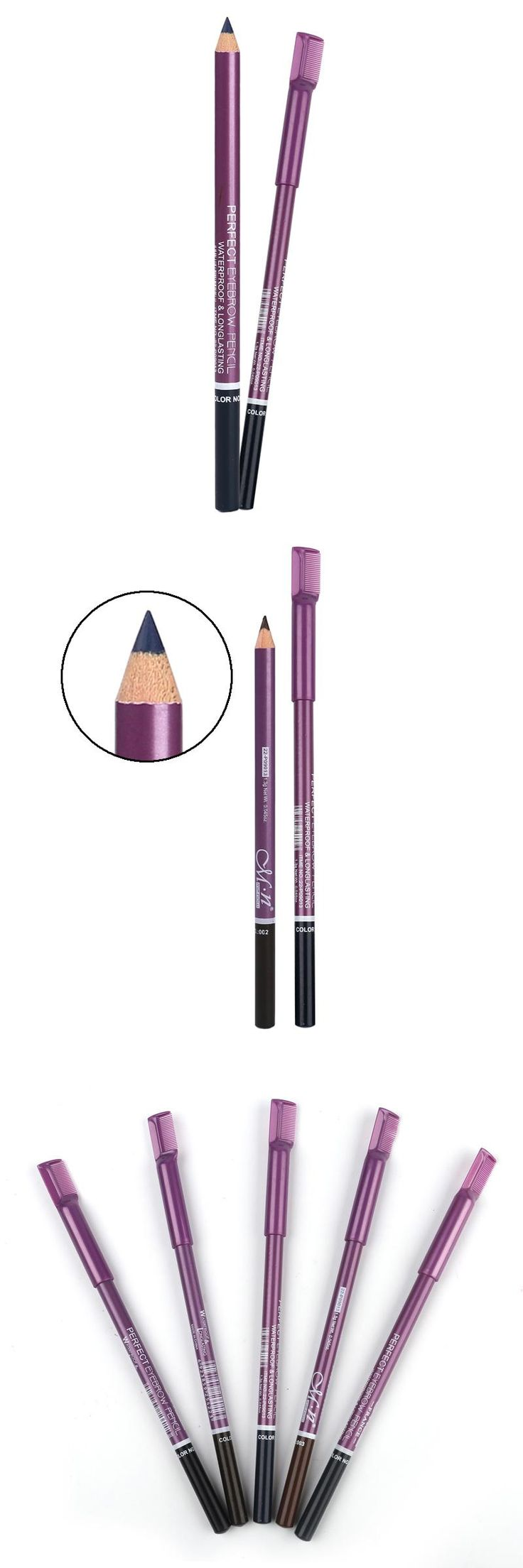 [Visit to Buy] M.n Menow Brand  Cosmetic Eyebrow Pencil With Comb With Waterproof &Long Lasting Effect Professional Makeup Eyebrow Pencil #Advertisement