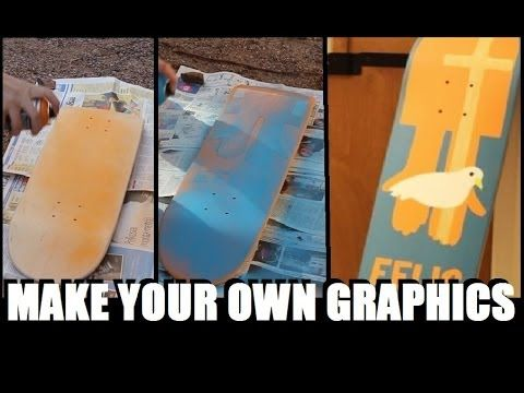 How to Make your Own Skateboard Graphics - YouTube
