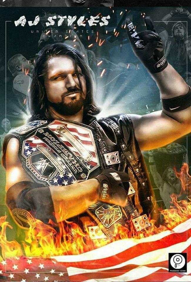 El ardiente Campeón de Los Estados Unidos. A.J. Styles <3