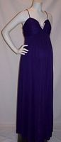 Long Purple Empire Maternity Dress. Great for bridemaids and Military Balls. $99.99  #dress #maternity