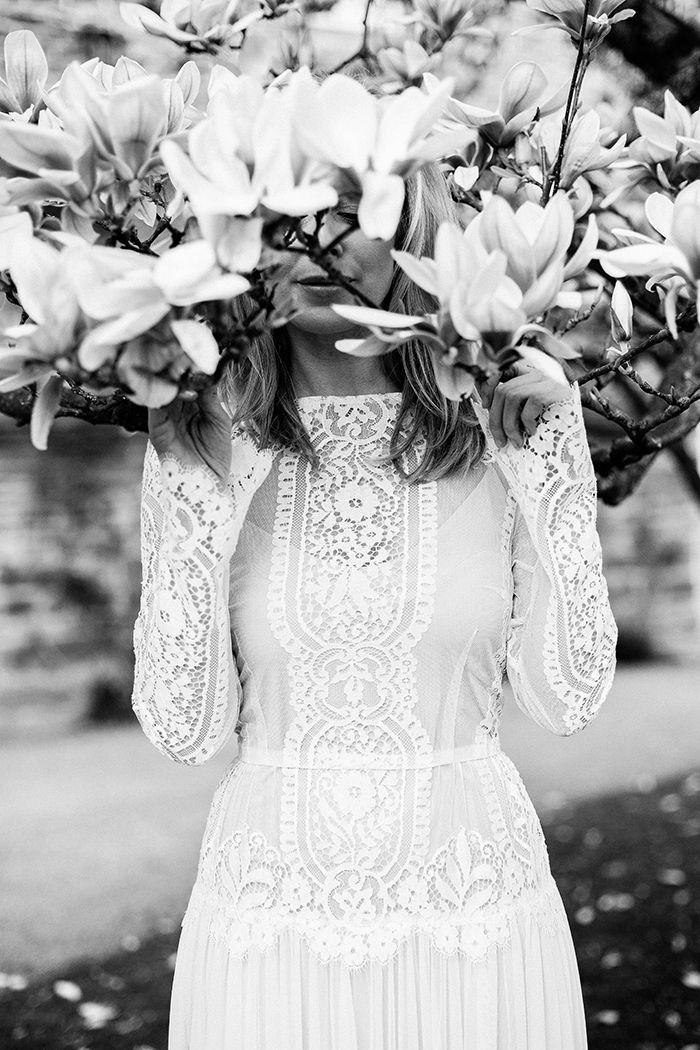 om Brautkleid Vintage på Pinterest  Langes weißes kleid mit spitze ...