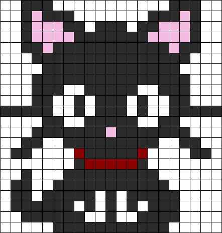 Kitten Perler Bead Pattern