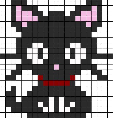 Kitten Perler Bead Pattern / Bead Sprite