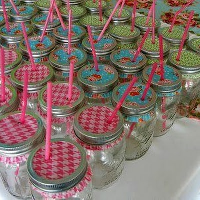 Mason Jars With Cup Cake Liners