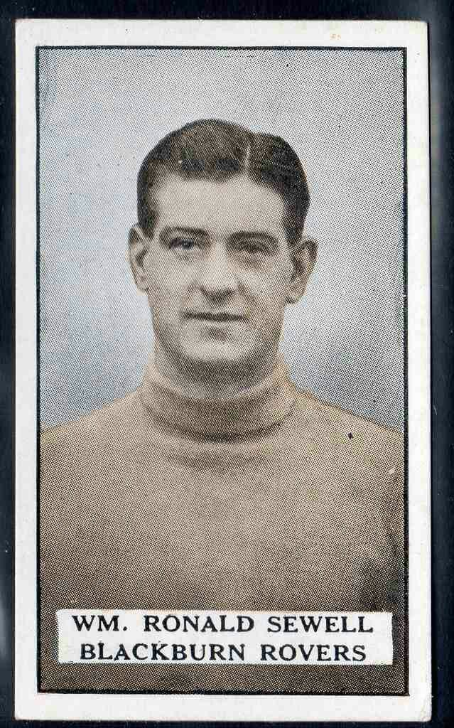 Ronald Sewell of Blackburn Rovers in 1924.
